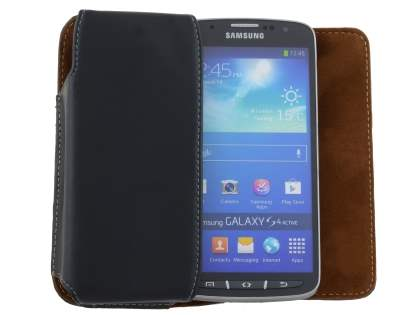 Extra-tough Genuine Leather ShineColours belt pouch for Samsung Galaxy S4 Active I9295