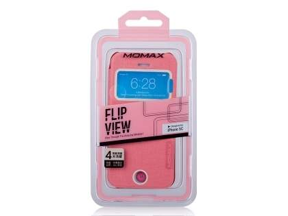 Momax Flip View Case for iPhone 5c - Baby Pink