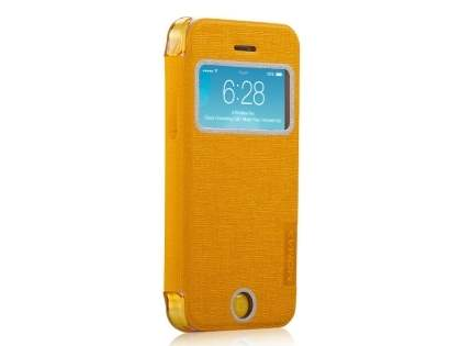 Momax Flip View Case for iPhone 5c - Canary Yellow