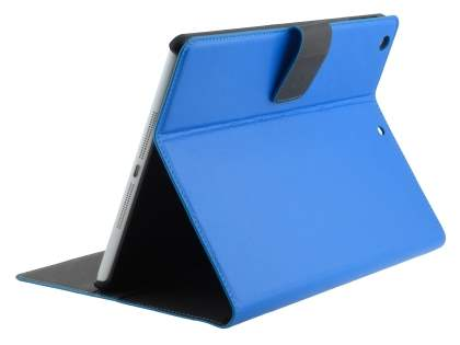 Synthetic Leather Smart Case with Stand for iPad Air 1st Gen - Blue Leather Wallet Case
