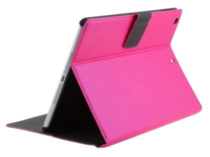 iPad Air 1st Gen Slim Synthetic Leather Wallet Smart Case with Stand - Hot Pink Leather Wallet Case