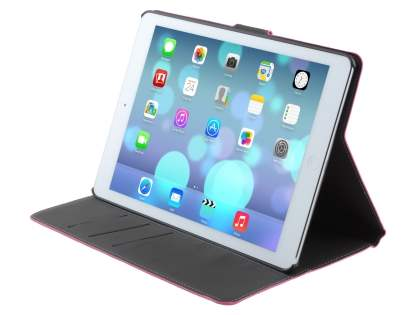 Synthetic Leather Smart Case with Stand for iPad Air 1st Gen - Hot Pink