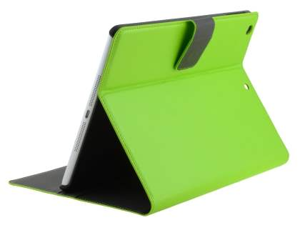Synthetic Leather Smart Case with Stand for iPad Air 1st Gen - Green Leather Wallet Case