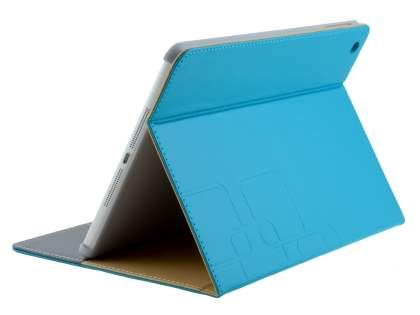 Synthetic Leather Case with Stand for iPad Air 1st Gen - Blue Leather Flip Case
