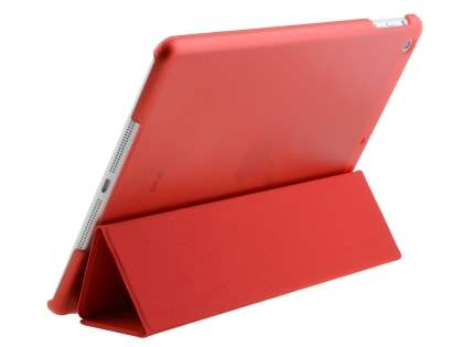 Premium Slim Synthetic Leather Smart Flip Case with Stand for iPad Air 1st Gen - Red Leather Flip Case