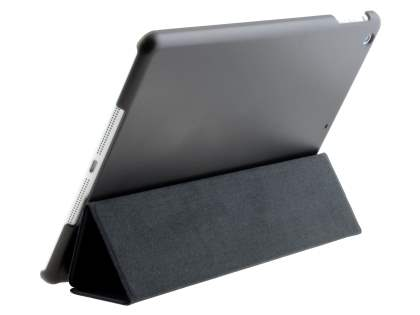 Premium Slim Synthetic Leather Smart Flip Case with Stand for iPad Air 1st Gen - Classic Black Leather Flip Case