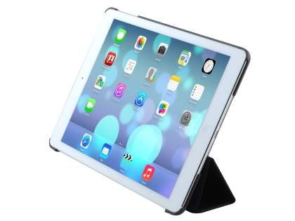 Premium Slim Synthetic Leather Smart Flip Case with Stand for iPad Air 1st Gen - Classic Black