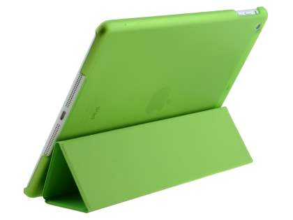 Premium Slim Synthetic Leather Smart Flip Case with Stand for iPad Air 1st Gen - Green Leather Flip Case