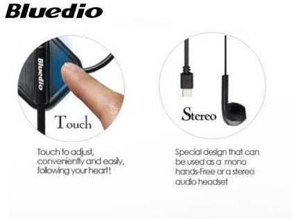 Bluedio DF33T Touch Control Bluetooth Stereo Headset for Apple - Gun Metal Black