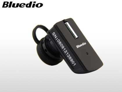 Bluedio T9+ Bluetooth Mono Headset for Apple - Classic Black Bluetooth Headset