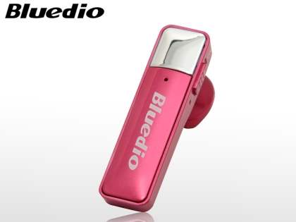 Bluedio 66i Bluetooth Stereo Headset for HTC - Hot Pink Bluetooth Headset