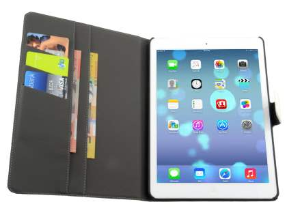 Synthetic Leather Smart Case with Stand for iPad Air 1st Gen - Pearl White