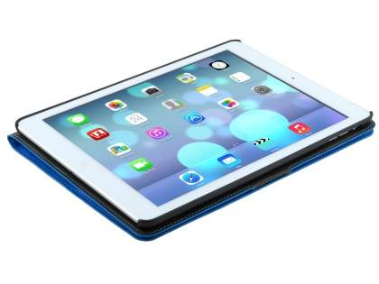 iPad Air 1st Gen Slim Synthetic Leather Wallet Smart Case with Stand - Blue