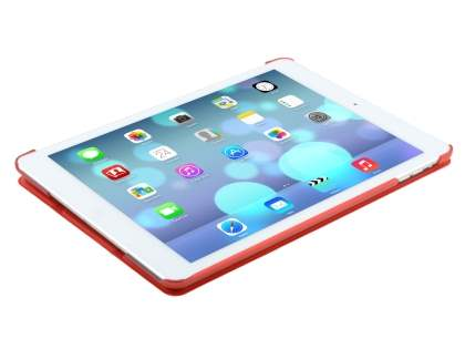 Premium Slim Synthetic Leather Smart Flip Case with Stand for iPad Air 1st Gen - Red