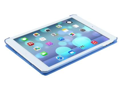 Premium Slim Synthetic Leather Smart Flip Case with Stand for iPad Air 1st Gen - Blue