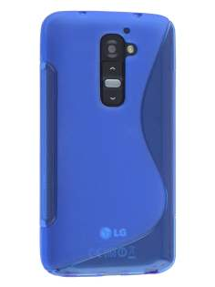 LG G2 Wave Case - Frosted Blue/Blue Soft Cover