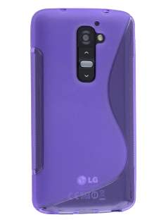 LG G2 Wave Case - Frosted Purple/Purple Soft Cover