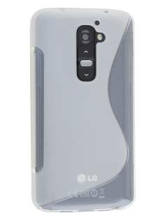 LG G2 Wave Case - Frosted Clear/Clear Soft Cover