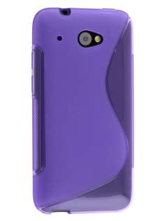 Wave Case for HTC Desire 601 - Frosted Purple/Purple Soft Cover