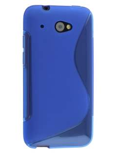 Wave Case for HTC Desire 601 - Frosted Blue/Blue Soft Cover