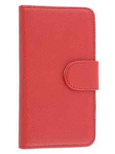 BlackBerry Z30 Synthetic Leather Wallet Case with Stand - Red Leather Wallet Case