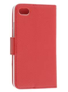 Synthetic Leather Wallet Case with Stand for BlackBerry Z30 - Red