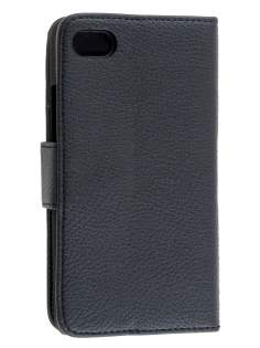 BlackBerry Z30 Synthetic Leather Wallet Case with Stand - Classic Black