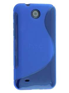 HTC Desire 300 Wave Case - Frosted Blue/Blue