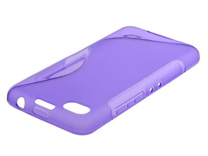 Wave Case for BlackBerry Z30 - Frosted Purple/Purple Soft Cover