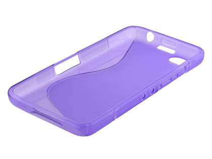 Wave Case for BlackBerry Z30 - Frosted Purple/Purple