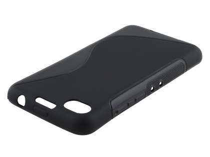 Wave Case for BlackBerry Z30 - Frosted Black/Black Soft Cover
