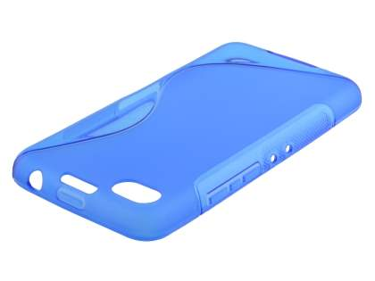 Wave Case for BlackBerry Z30 - Frosted Blue/Blue Soft Cover