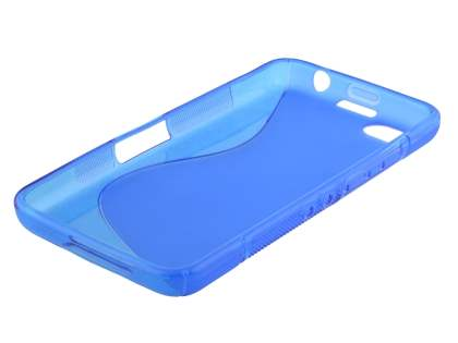 Wave Case for BlackBerry Z30 - Frosted Blue/Blue