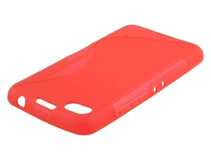 Wave Case for BlackBerry Z30 - Frosted Red/Red Soft Cover