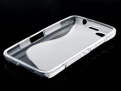 Wave Case for BlackBerry Z30 - Frosted Clear/Clear