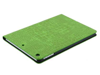 Crocodile Pattern Synthetic Leather Case for iPad Air 1st Gen - Green Leather Flip Case