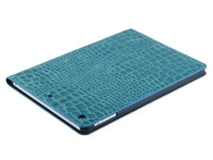 iPad Air 1st Gen Crocodile Pattern Synthetic Leather Case - Blue
