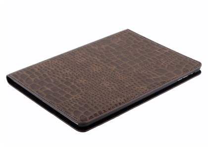 iPad Air 1st Gen Crocodile Pattern Synthetic Leather Case - Brown