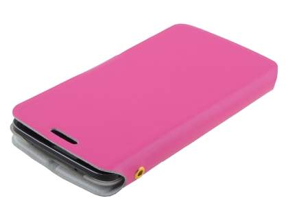 LG G2 Slim Genuine Leather Portfolio Case - Pink