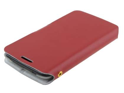LG G2 Slim Genuine Leather Portfolio Case - Red