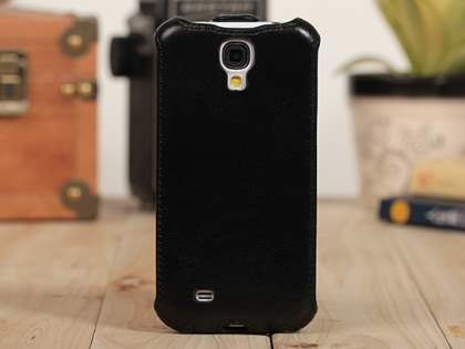 Synthetic Leather Flip Case for Samsung Galaxy S4 I9500 - Classic Black