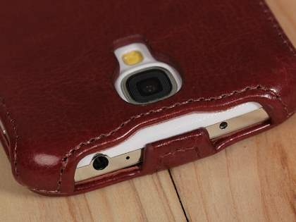 Synthetic Leather Flip Case for Samsung Galaxy S4 I9500 - Chocolate