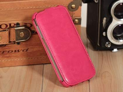 Synthetic Leather Flip Case for Samsung Galaxy S4 I9500 - Pink