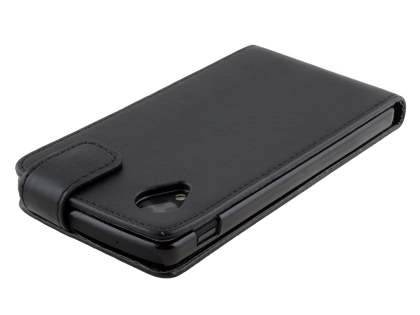 Synthetic Leather Flip Case for LG Google Nexus 5 - Classic Black