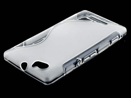 Sony Xperia M Wave Case - Frosted Clear/Clear