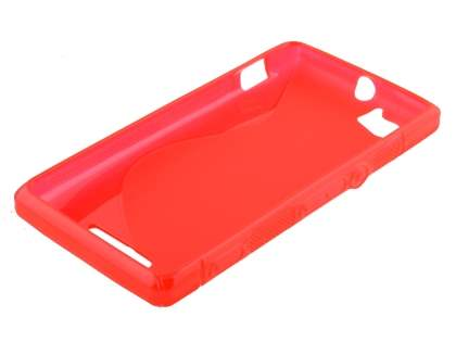 Sony Xperia M Wave Case - Frosted Red/Red