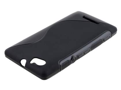Sony Xperia M Wave Case - Frosted Black/Black