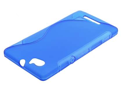 Sony Xperia M Wave Case - Frosted Blue/Blue