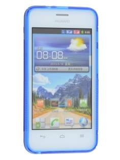 Huawei Ascend Y320 Wave Case - Frosted Blue/Blue