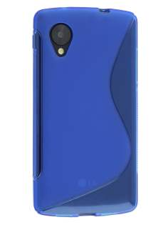 Wave Case for LG Google Nexus 5 - Frosted Blue/Blue Soft Cover